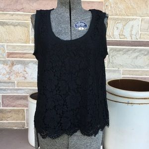 Banana Republic Lace Covered Tank Top